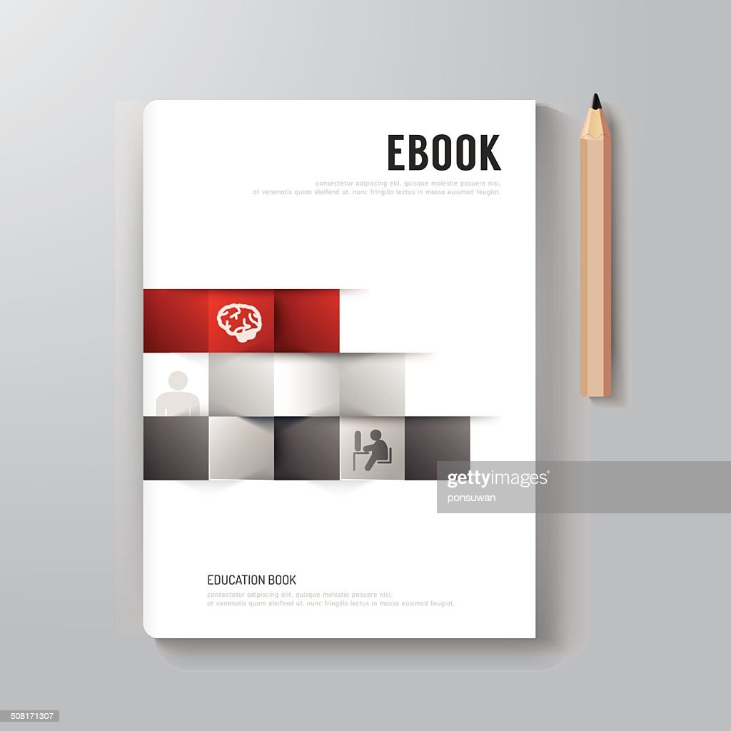 Cover Book Digital Design Minimal Style Template. : Vector Art