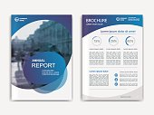 Annual report, flyer, presentation, brochure. Front page report , book cover layout design. Design layout template in A4 size . Abstract blue transparent cover templates