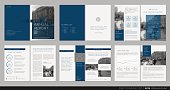 Cover design annual report,vector template brochures, flyers, presentations, leaflet, magazine a4 size. Dark blue and white background