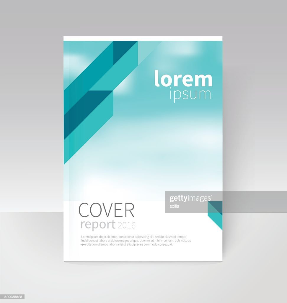 Cover Design Brochure Flyer Annual Report Cover Template Vector