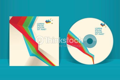 Cd Cover Design Template Eps 10 Vector Transparencies Used Vector ...