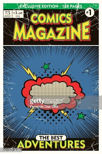 Cover template. Comic book vintage. Vector illustration. : stock vector