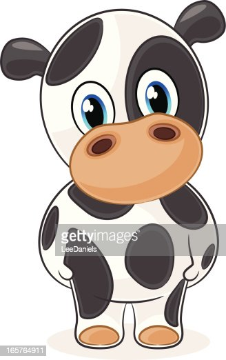 Cow Cartoon : Vector Art