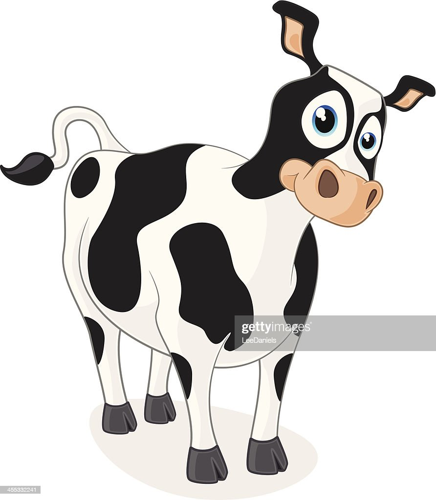 cartoon graphics of cow vector art getty images