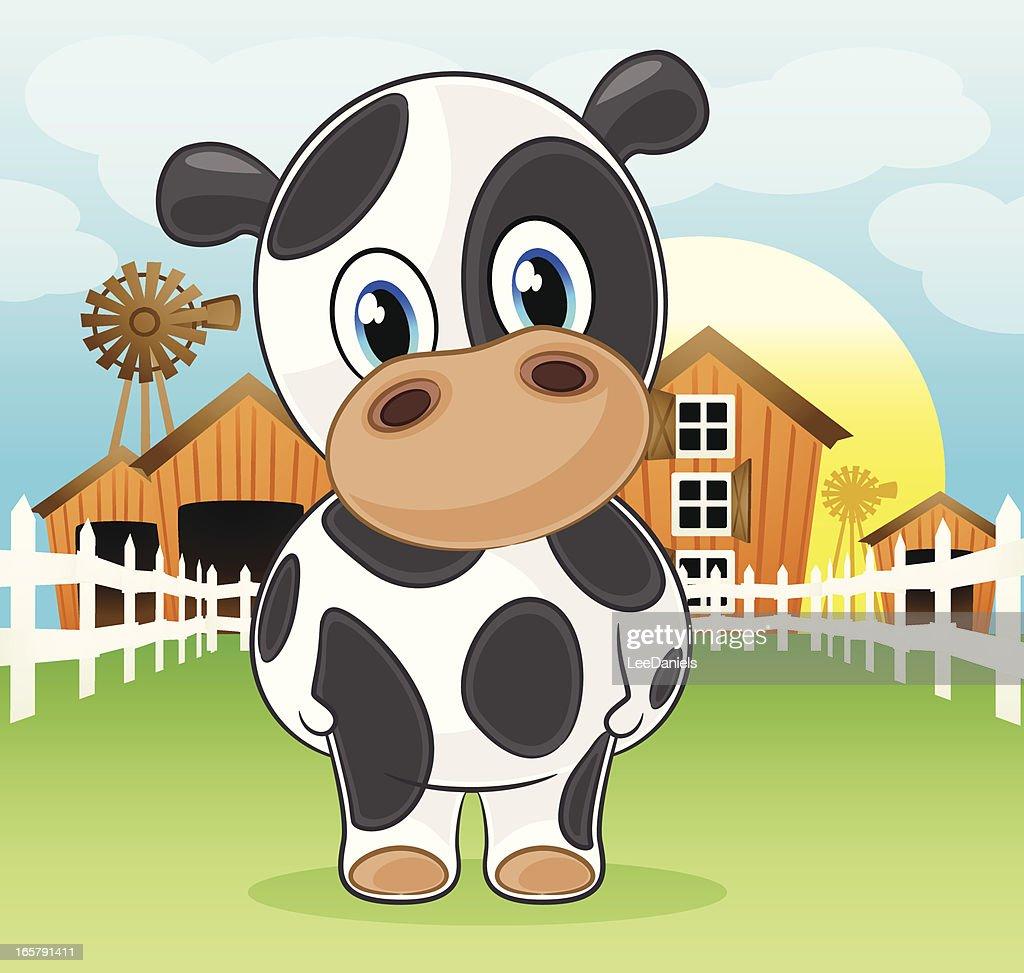 Cow on the farm : Vector Art
