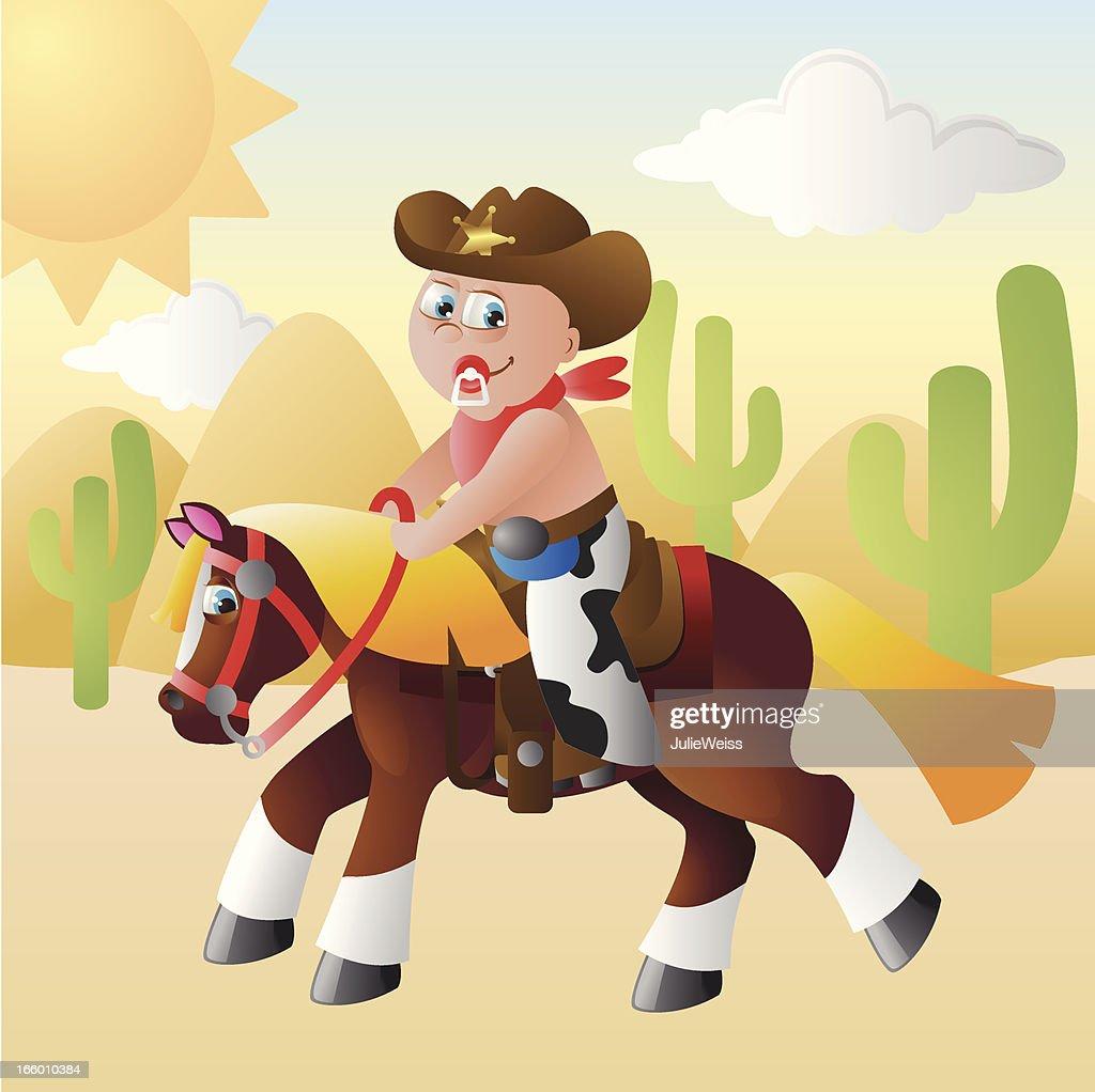 Cowboy Baby : Vector Art