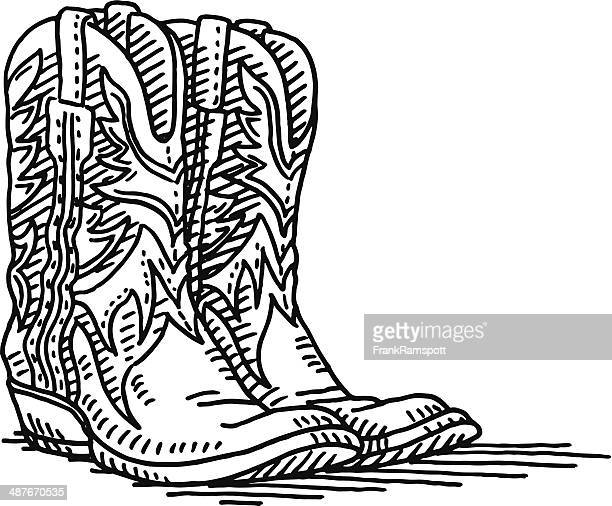 Cowboy Boot Vector Art And Graphics Getty Images