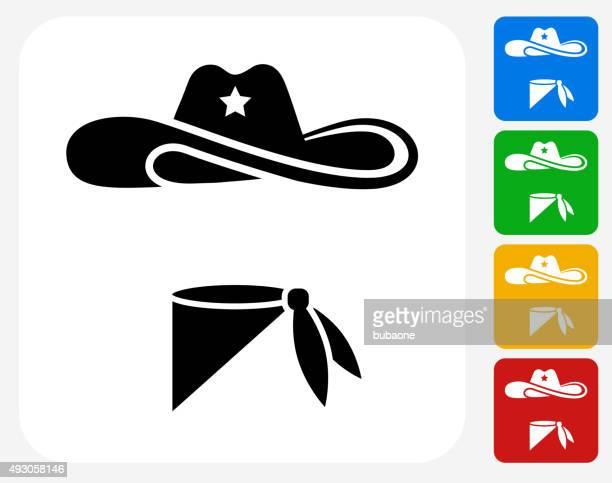 Cowboy Cloth Icon Flat Graphic Design