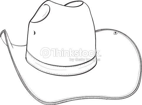 Chapéu De Cowboy Mão Desenho Ilustração Vetorial Arte vetorial ... 71e695f3efa