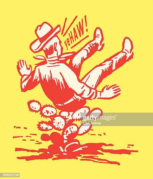 Cowboy Landing on Cactus Yehaw