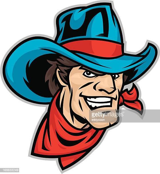 Cowboy Mascot Head
