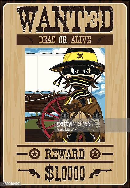 Cowboy Outlaw Wanted Poster
