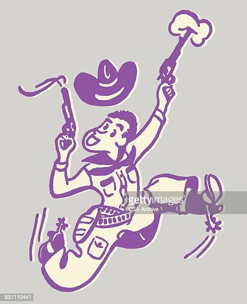 Cowboy Shooting Gun