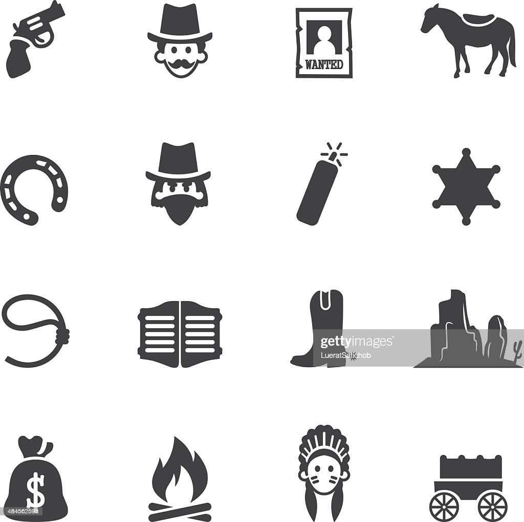 Cowboy Silhouette Icons