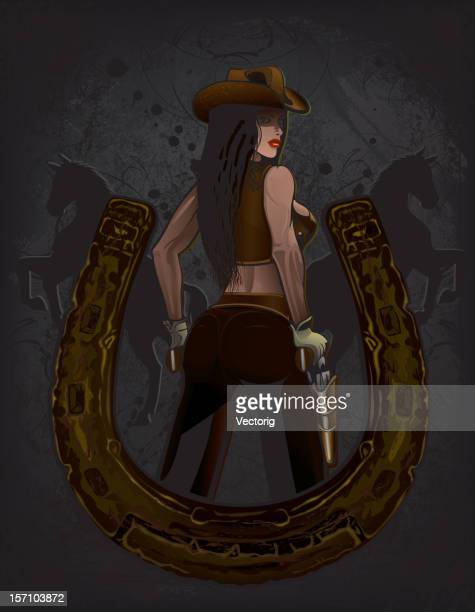 Cowgirl and Horseshoe