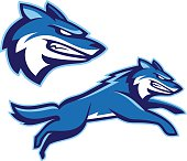 Two logo options for a mascot. A great choice for school or sports team mascot.