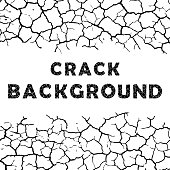 White background with cracks and cracked sample text
