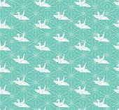 crane vector seamless pattern