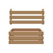 Vector empty wooden crate