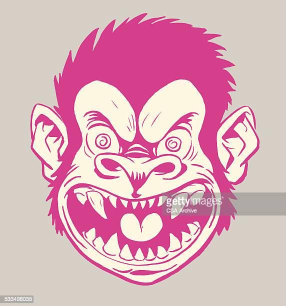 Crazy Monkey Head
