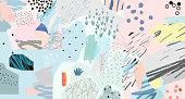 Collage. Modern trendy design. Vector