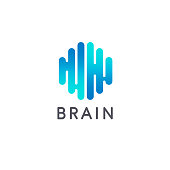 Creative brain abstract vector  design template. Brain icon. Vector illustration
