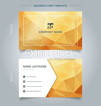 Creative business card and name card template abstract yellow and creative business card and name card template abstract yellow and gold geometric background with lighting reheart Image collections