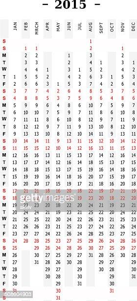 Creative calendar 2015 print : Vector Art