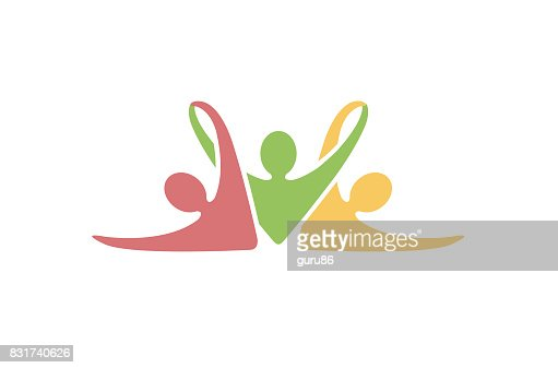 Creative Colorful Abstract People Symbol Design : stock vector