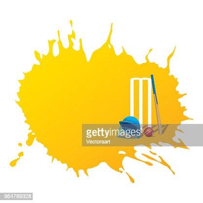 creative cricket promotion poster deign : stock vector