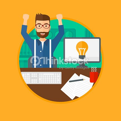 Creative excited man having business idea