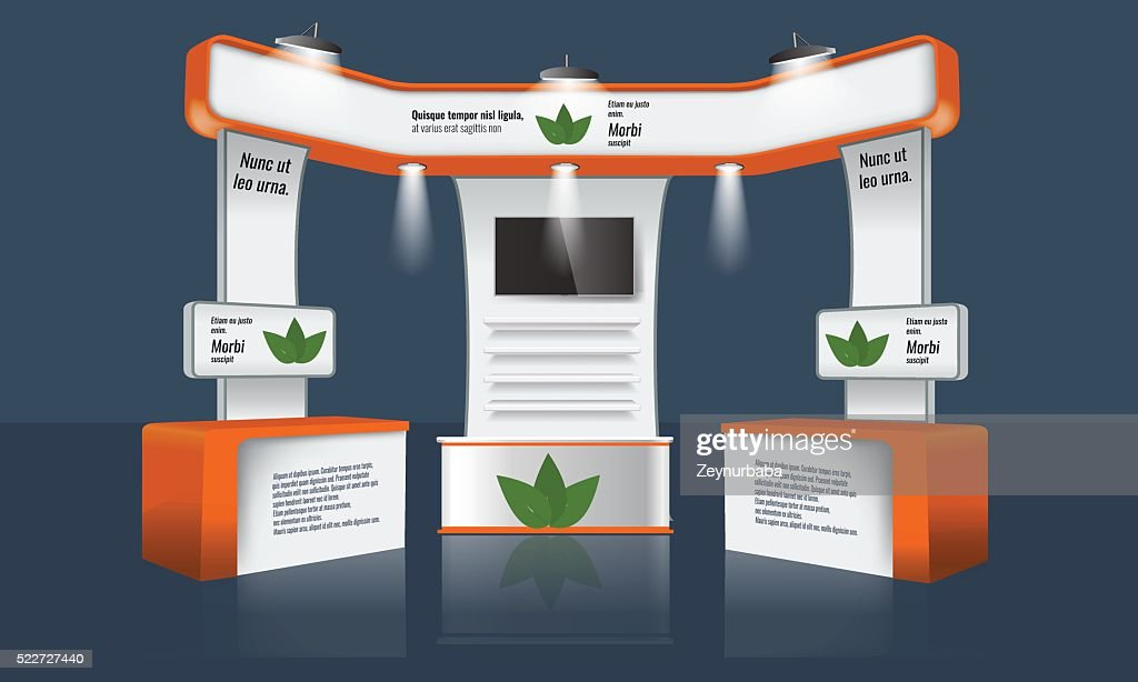 Exhibition Stand Template : Creative exhibition stand design trade booth template corporate