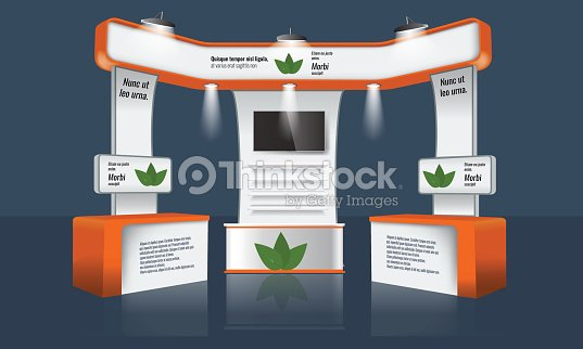 Exhibition Stand Vector : Creative exhibition stand design trade booth template