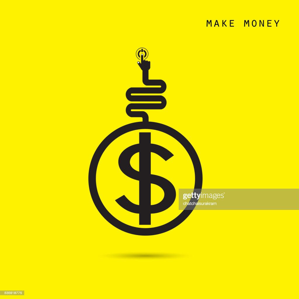 Creative financial and economic logo design template, business and industrial concept. : Vector Art