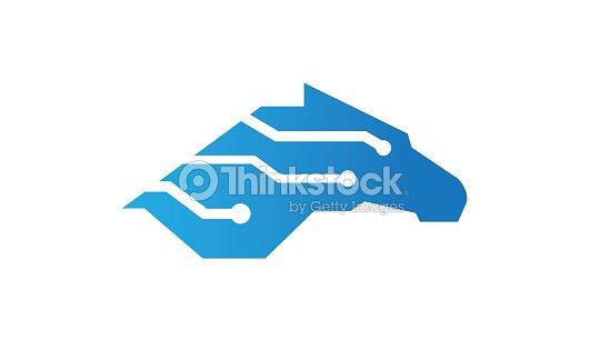 Creative Horse Technology Symbol Design Vector Art Thinkstock