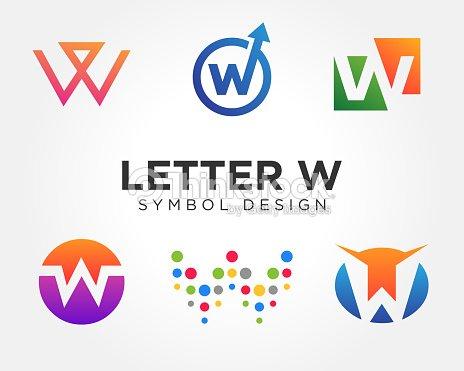 creative letter w icon collections arte vetorial thinkstock
