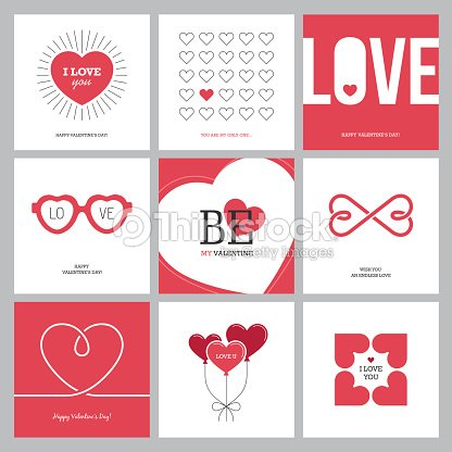 creative love design concepts set with hearts ベクトルアート