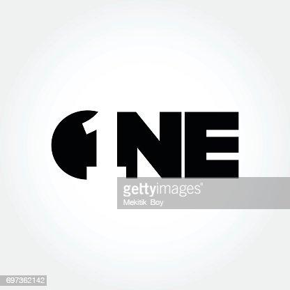 Symbole créatif design numéro un : Clipart vectoriel