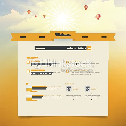 creative one page website design template with blurred header design
