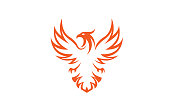 Creative Phoenix Bird Logo Symbol Design Illustration