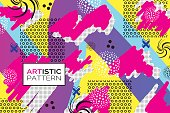 Creative pop art pattern. Artistic background