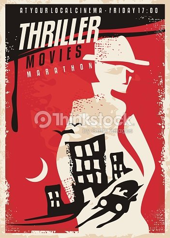 Creative poster design for thriller movie show : stock vector