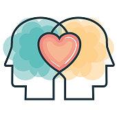 creative profile and brain vector illustration design