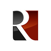 Creative R letter vector logo design. Vector sign. Character logotype symbols. Logo icon design for website