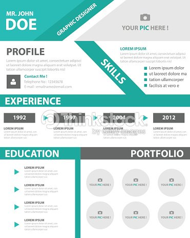 Creative resume business profile cv vitae template layout design creative resume business profile cv vitae template layout design vector art friedricerecipe Choice Image