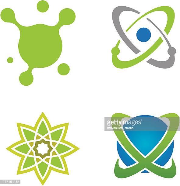 Ciencia creativas del universo plantilla de logotipo splash social business
