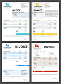 Creative vector illustration of invoice form template for your billing isolated on transparent background. Customizable business company art design. Abstract concept graphic order description element.