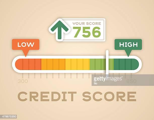 Note d'évaluation de crédit carrés