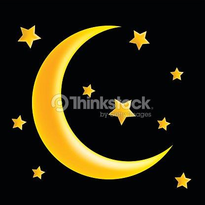 Crescent Moon And Star Vector Symbol Icon Design Vector Art Thinkstock