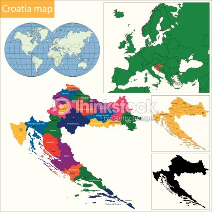 Croatia Map Vector Art | Thinkstock